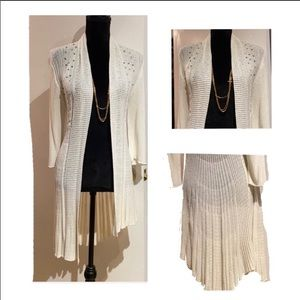 NWT Waterfall Cream Sweater w/ sequins for sparkle